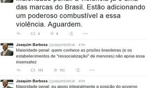 'Estão brincando com fogo', diz Barbosa sobre votação da maioridade