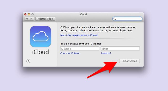 Como sincronizar o macbook com uma conta icloud dicas e tutoriais insira o login e a senha foto reproduolucas mendes stopboris Images