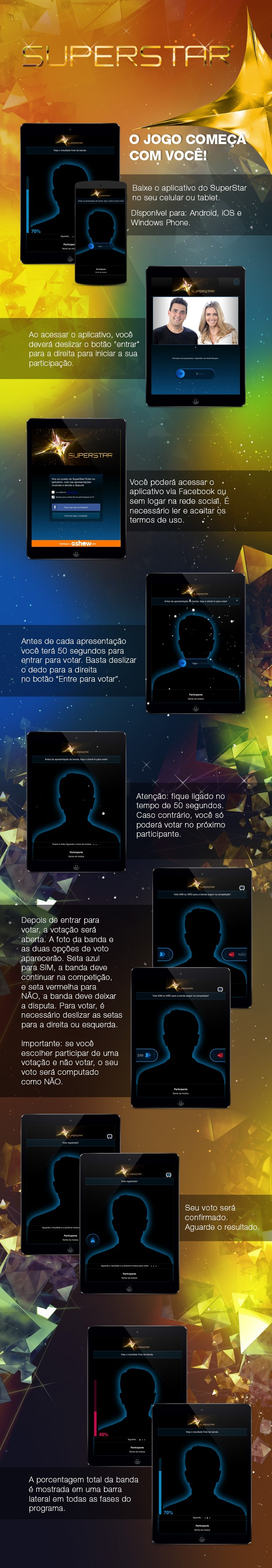tutorial aplicativo (Foto: SuperStar/TV Globo)