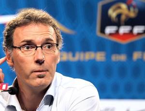 Laurent Blanc durante a convocação da seleção da França (Foto: AFP)