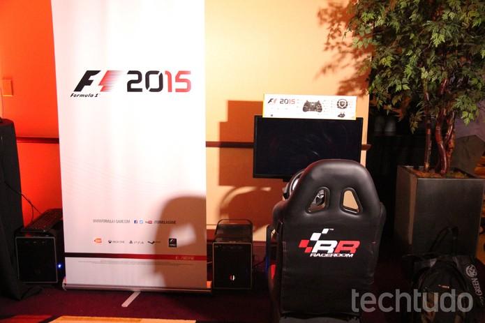 Testamos o F1 2015, novo game ainda mais realista da Fórmula 1 (Foto: Anna Kellen Bull/TechTudo)