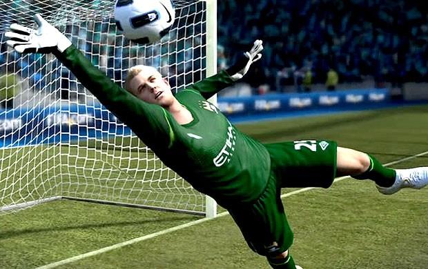 Hart goleiro do Manchester City Fifa 12  (Foto: Reprodução)