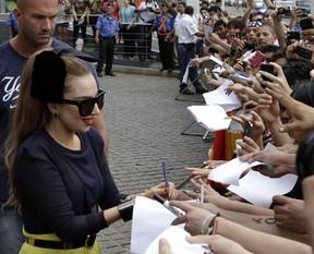 Lady Gaga em Assunção, no Paraguai (Foto: Jorge Adorno/ Reuters/ Agência)