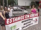 Terceirizados de São Vicente fazem manifestação em frente à prefeitura
