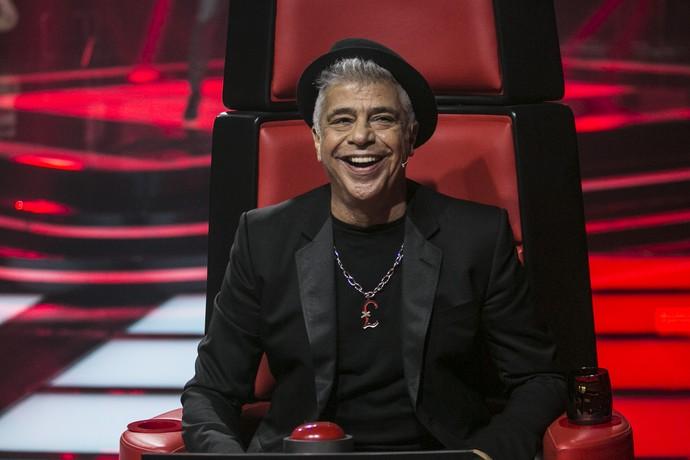 Lulu Santos se anima na quarta Audição às Cehgas do The Voice Brasil (Foto: Raphael Dias/Gshow)