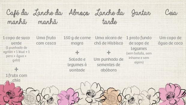 Cardpio de dieta para noivas (Foto: GNT)