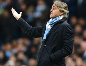 Roberto Mancini, Manchester City e Real Madrid (Foto: Agência AFP)