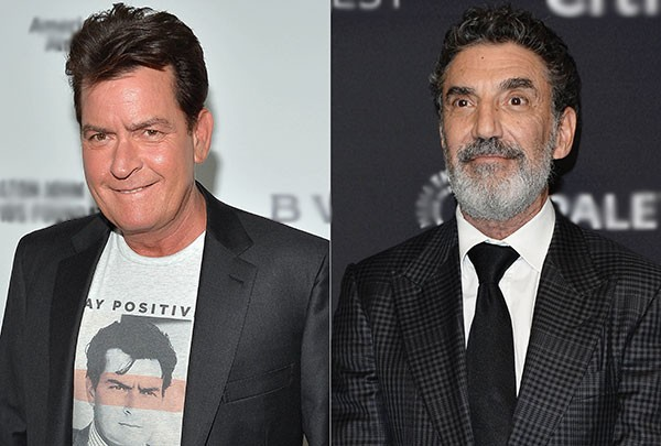 Charlie Sheen e Chuck Lorre (Foto: Getty Images)