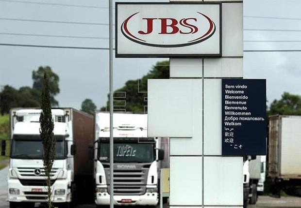 Unidade de processamento de carne do grupo JBS na cidade de Lapa, no Paraná  (Foto: Joédson Alves/EFE)