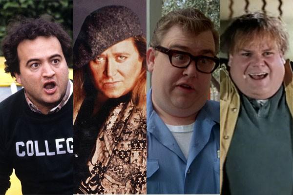 John Belushi, Sam Kinison, John Candy e Chris Farley (Foto: Divulgação)
