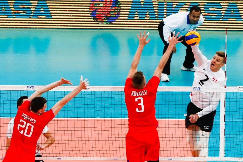 Canadá se impôs diante dos russos (Foto: Divulgação/FIVB)