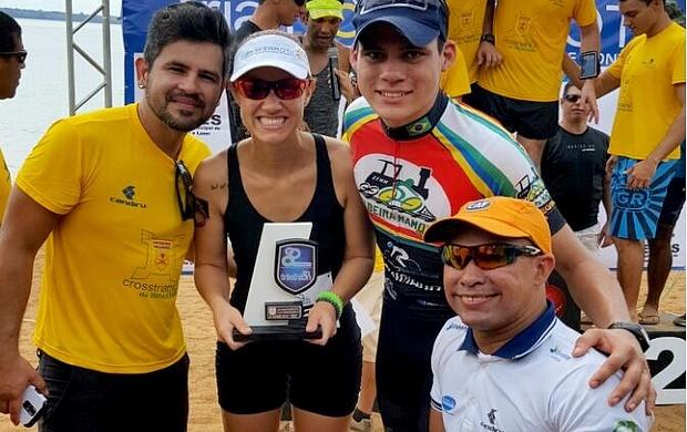 Karina Quadros conquista 3º lugar em prova de Cross Triathlon por equipe (Foto: Karina Quadros/Arquivo Pessoal)