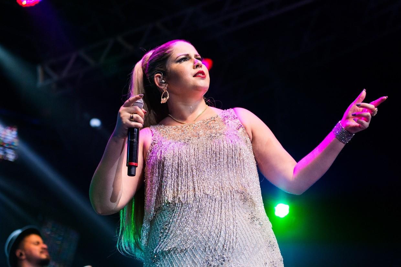 Marlia Mendona canta sucessos no lanamento do DVD 'Realidade - Ao Vivo', no Rio de Janeiro (Foto: Fabiano Leone/Multishow)