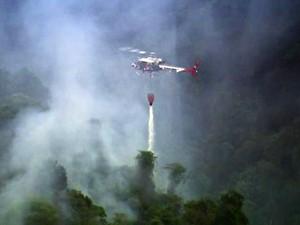 Bombeiros vão retomar tentativa de controle do incêndio na Serra da Cantareira - GNews (Foto: Reprodução/GloboNews)