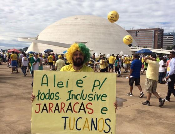 Manifestação do dia 13 de março em Brasília (Foto: ÉPOCA)