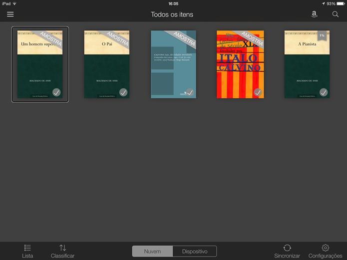 Abra um livro no leitor (Foto: Daniel Ribeiro / TechTudo)