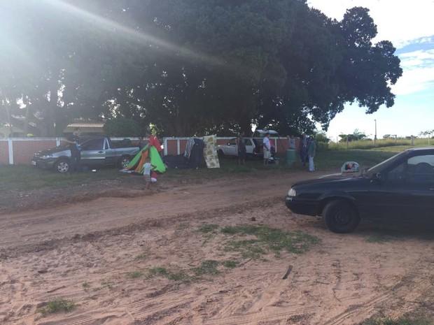Uma das fazendas invadidas fica em Dracena (Foto: Mariane Santos/TV Fronteira)