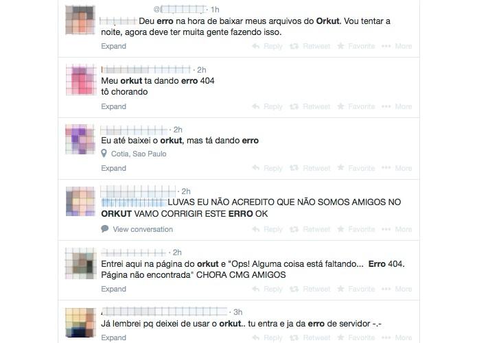Usuários falam sobre o Orkut  (Foto: Reprodução/Melissa Cruz)