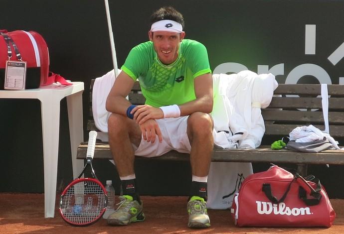 Leonardo Mayer, tênis Rio Open (Foto: Thiago Quintella)