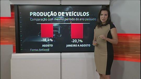 Produção de veículos no Brasil cai 18,4% em agosto, diz Anfavea