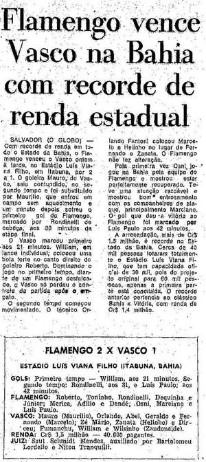 No jogo anterior ao início da seca, Rondinelli  abriu o placar (Foto: Reprodução/Acervo O Globo)