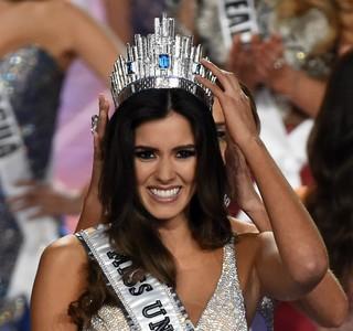 Colombiana Paulina Vega é eleita Miss Universo 2014 em Miami, nos Estados Unidos (Foto: Timothy A. Clary/ AFP)