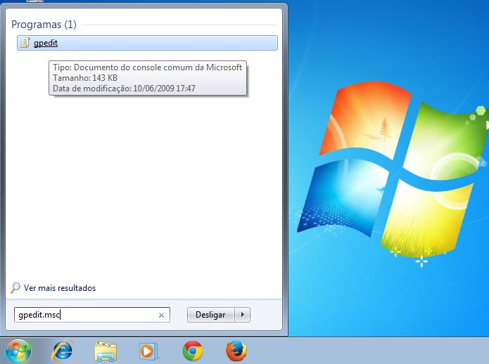 Executando o Gpedit no Windows (Foto: Reprodução/Edivaldo Brito)