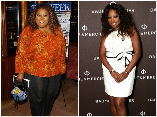 Star Jones Reynolds em 2002 e 2014 (Foto: Getty Images)