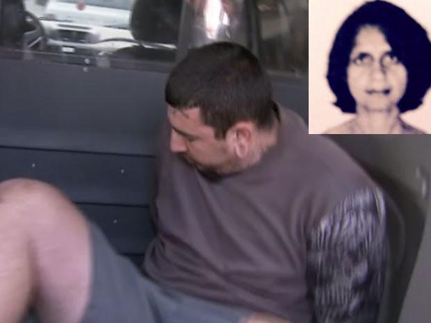 Guilherme Lozano Oliveira deu um golpe de jiu-jitsu para matar a tia, Kely de Oliveira (no detalhe da foto), e depois esquartejá-la em ao menos oito partes, segundo a Polícia Civil (Foto: Fotomontagem: Reprodução/ TV Globo)