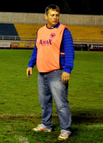 Jean Carlos Ferreira, técnico da Amax (Foto: Nathacha Albuquerque)