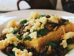 'Baixaria', prato típico de Rio Branco, foi aprovado pelo jornalista Diego Drush (Foto: Arquivo Pessoal)