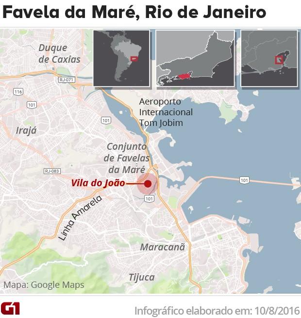 Favela da Maré (Foto: Editoria de arte/G1)