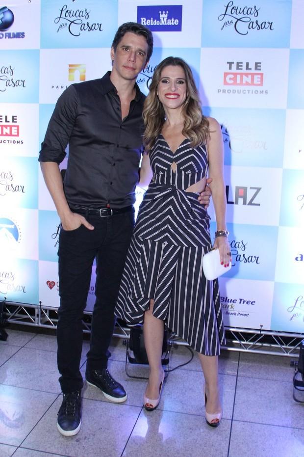 Márcio Garcia e Ingrid Guimarães pré-estreia no Rio (Foto: Claudio Andrade e Thyago Andrade / Foto Rio News)
