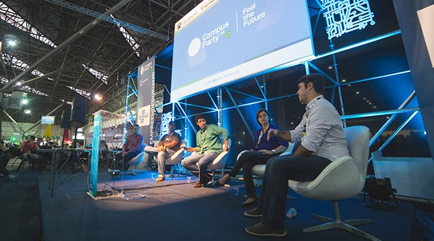 Campus Party, Microsoft, Liga Ventures, Google, Movimento 100 Open Startups (Foto: Willian Soares Alves)