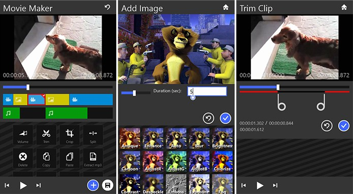 Movie Maker 8.1 é um editor de vídeos completo para WIndows Phone (Foto: Divulgação/Windows Phone Store)