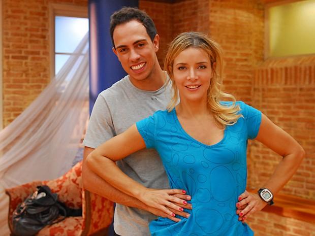 Christine Fernandes nos ensaios do Dança dos Famosos, em 2010 (Foto: João Cotta / TV Globo)