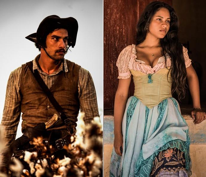 Cícero e Luzia perguntam onde Tereza e Santo estiveram (Foto: Caiuá Franco/ Globo)