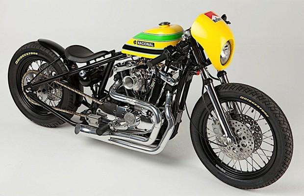 Defensor, moto em homenagem a Ayrton Senna (Foto: Divulgação)