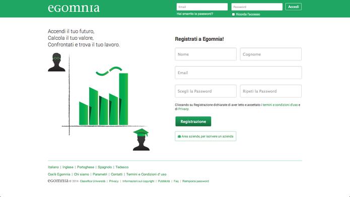 Tela de login do Egomnia ignora uso de credenciais de outras redes sociais (Foto: Divulgação/Egomnia)