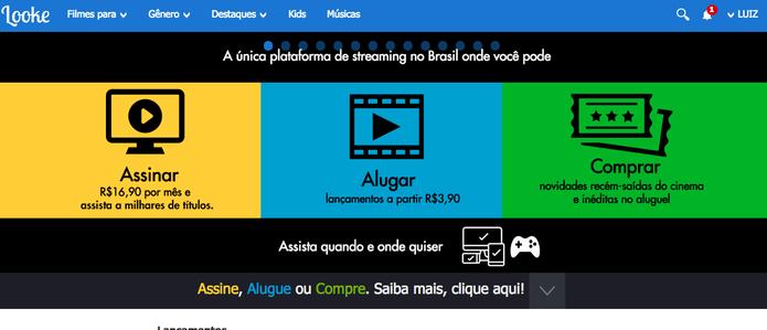 Saiba assistir vídeos offline no Looke, rival do Netflix (Foto: Reprodução/Felipe Vinha)