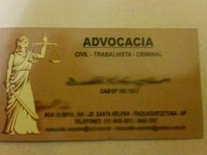 Falso advogado agia em Itaquaquecetuba (Foto: Polícia Militar/Divulgação)