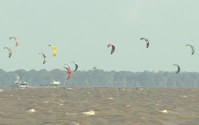 Avap faz avaliação positiva do KiteSurf amapaense em 2014 (Foto: Reprodução/TV Amapá)