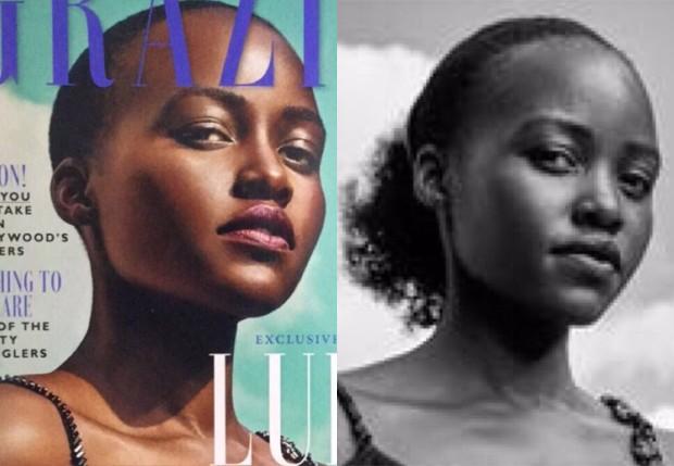 Lupita Nyong'o ficou careca após alterações digitais em capa de revista (Foto: Reprodução/Instagram)
