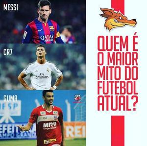 O maior mito do futebol atual? Comercial-MS compara Guma a Messi e CR7 (Foto: Reprodução/Instagram)
