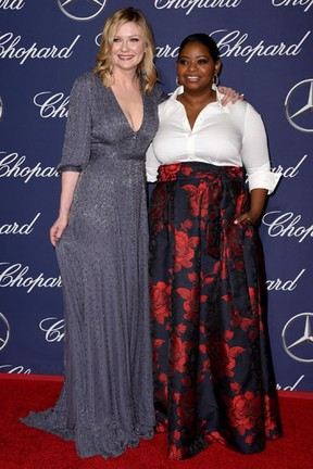 Kirsten Dunst e Octavia Spencer em festival e cinema em Palm Springs, Califórnia, nos Estados Unidos (Foto: Emma McIntyre/ Getty Images/ AFP)