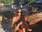 Danielle Favatto, filha de Romário, posa de biquíni em Búzios