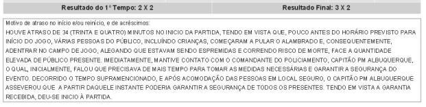 Súmula de ABC x Palmeiras (Foto: Reprodução)