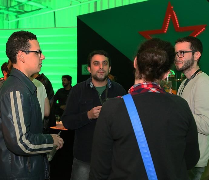 Os participantes do Globo Lab trocam experiências nos Estúdios Globo  (Foto: Gianne Carvalho/TV Globo )