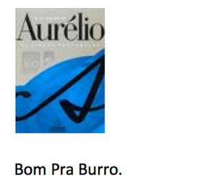 Propaganda do dicionário Aurélio (Foto: Reprodução/UNICAMP)