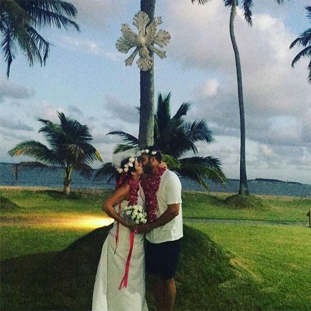 Christiane Pelajo e Fernando Sita se casam em Porto de Galinhas (Foto: Reprodução/Instagram)